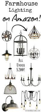 farmhouse lighting fixtures. Farmhouse Light Fixtures Under 200 On Amazon Lighting