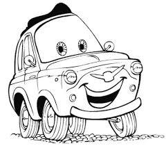 Disegno Di Luigi La 500 Di Cars Da Stampare E Colorare Gratis