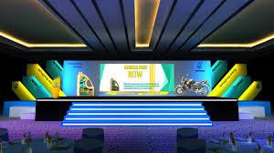 Corporate Backdrop Design Ideas Product Launch Stage Stage Backdrop Design Stage Set