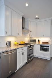 white shaker kitchen cabinet. Concrete Countertops White Shaker Kitchen Cabinets Lighting Flooring Sink Faucet Island Backsplash Cut Tile Composite Red Oak Wood Black Glass Panel Door Cabinet C