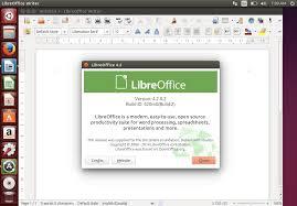 ubuntu home office. libreoffice on ubuntu home office