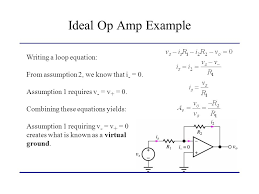 ideal op amp example writing a loop equation lecture 2 operational amplifiers ppt