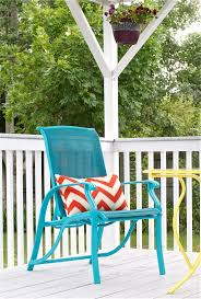 seat cushions for outdoor metal chairs. chair with chevron pillow - offbeat + inspired seat cushions for outdoor metal chairs d