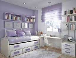 Adorable Teen Bedroom Design Idea for Girl with Soft Purple-White ...