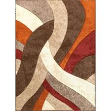 photo 4 of 7 beige and brown area rugs 5 x medium orange red rug green