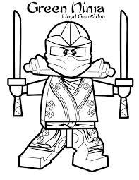 Ninja Coloring Sheets Green Pages Page Free Printable Ninjago