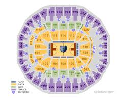 Memphis Grizzlies Stadium Seating Chart Memphis Grizzlies Home Schedule 2019 20 Seating Chart