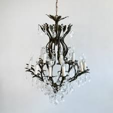 large antique cast metal birdcage chandelier 3