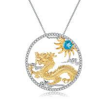 GEM'S BALLET 925 Sterling <b>Silver</b> Handmade Myth Dragon ...