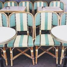 french cafe chairs. Aqua-striped French Bistro Chairs Make Me Want To Go Paris Again. Habitually Cafe