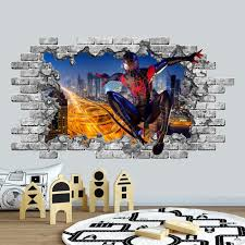 3d spiderman wall decal 3d wall