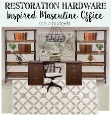 masculine restoration hardware inspired office on a budget blesserhouse com
