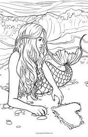 Mermaid Coloring Pages Adults Beautiful For With Regard To 2