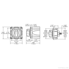 blue sea systems m series 4 position mini selector battery switch Blue Sea Systems Battery Switch 4 Position Diagram blue sea systems 6007200 dimensioned drawing Dual Battery Wiring Diagram