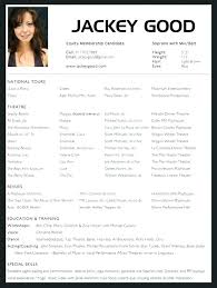 Actor Resume Template Word Extraordinary Acting Resume Template Word Theater Digital Art Gallery For Cv