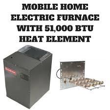 goodman mobile home furnace. mobile home electric furnace 51,000 btu 1200 cfm 3 ton 15kw mbr1200 and hka-15c goodman i