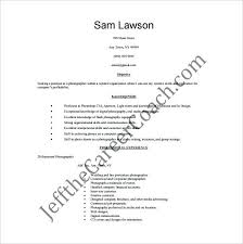 Photographer Resume Objective Photographer Resume Sample Pdf Free Wedding Photographer Resume 43