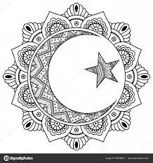 круговой узор в виде мандалы религиозные исламский символ звезда и
