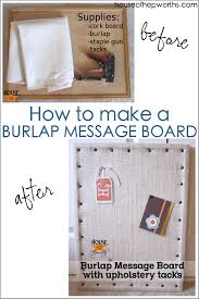 make your own burlap message board with a few basic supplies houseofhepworths