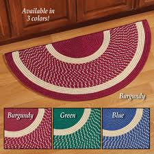 cambridge two tone braided area rug half circle limited quantity larger view