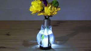 vase lighting. Vase Lighting Ideas. How To Make A Lit Lightbulb W Stand Ideas