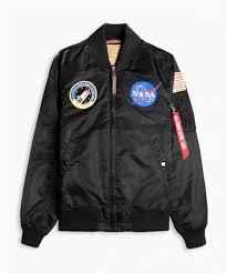 Alpha Industries Ma 1 Vf Nasa Black Bomber Jacket