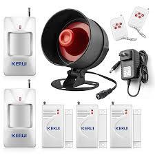 KERUI Security Alarm System Indoor Outdoor Weather Proof Siren Window Door  Sensors Motion Sensor Alarm With Remote Control|Alarm System Kits| -  AliExpress