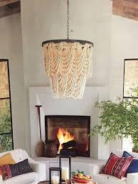 pottery barn amelia wood bead chandelier amelie distressed chandelier perfect lighting