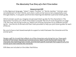 the absolutely true diary of a part time n assessment in  1 the absolutely true diary of a part time n