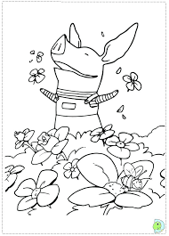 Coloring Pages Online The Pig Is So Happy Page Free Printable Olivia