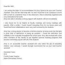 Teacher Recommendation Letter Template Caseyroberts Co