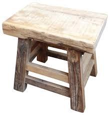 reclaimed wood slab stool