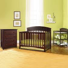 graco cribs 3 piece nursery set charleston convertible crib changing table and 4 drawer dresser in cherry free