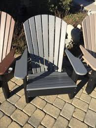 poly lumber furniture. Interesting Lumber Grey  Black Poly Lumber Adirondack Chair Many Different Colors And Styles  To Choose From For Poly Lumber Furniture N