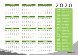 Printable Calendars 2020 With Holidays 2020 Printable Calendars Monthly With Holidays Yearly