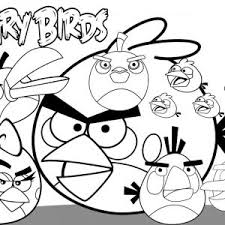 Small Picture Printable Angry Bird Coloring Pages For Kids To Print adult