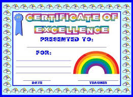 Award Of Excellence Certificate Template Awesome Achievement Award Certificates Classroom Ideas Pinterest Award