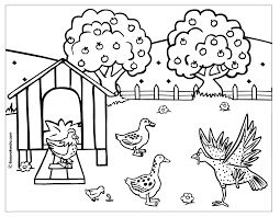 Small Picture Hen Coloring Page