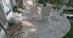 concrete patio decorative