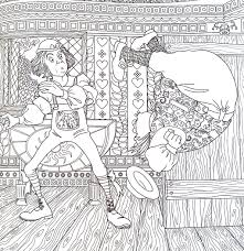 Alice In Wonderland Coloring Book Piccadilly Editor