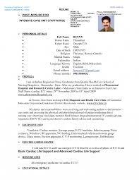 Resume Nursing Format Sample Doc Template Pdf Nurse Word Gnm For