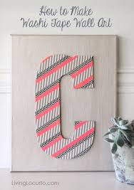 wood letter wall decor washi tape wall art diy craft best pictures