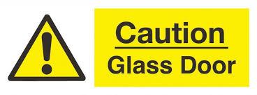 automatic glass door sign non photoluminescent rigid pvc