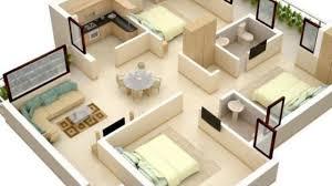 Open Concept 3 Bedroom House Floor Plan Design 3d 3 Bedroom Bungalow Floor Plan India Ideas Youtube