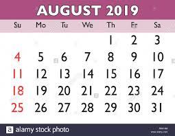 printable calendar month 2019 calendar august month vector printable calendar monthly