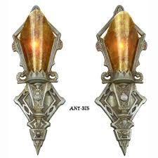 pair of antique red art deco wall sconces lights lighting art deco wall sconces uk art