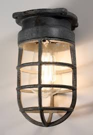 industrial cage lighting. Antique Industrial Cage Light Fixture For Wall Or Ceiling Signed Crouse Hinds Vintage Lighting O