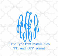 Monogram Font On Cricut Design Space Installable Master Empress Monogram Font In True Type Format