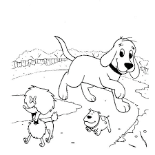 Clifford The Big Red Dog Coloring Pages The Big Red Dog Coloring