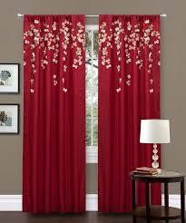 Red <b>Flower</b> Curtain Panel | <b>Шторы</b> панели, <b>Занавески</b> в цветочек ...